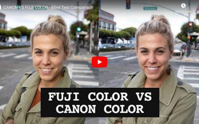 A Comparison of Canon and Fujifilm Colors