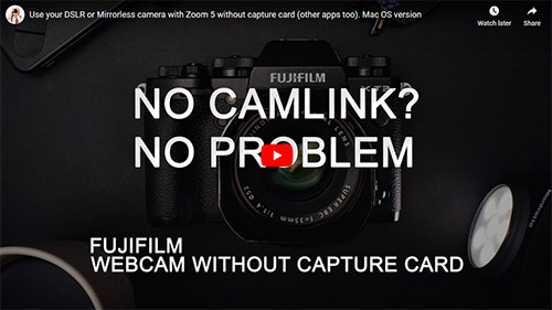 Use your Fuji camera as a webcam without a Capture Card on Mac OS.