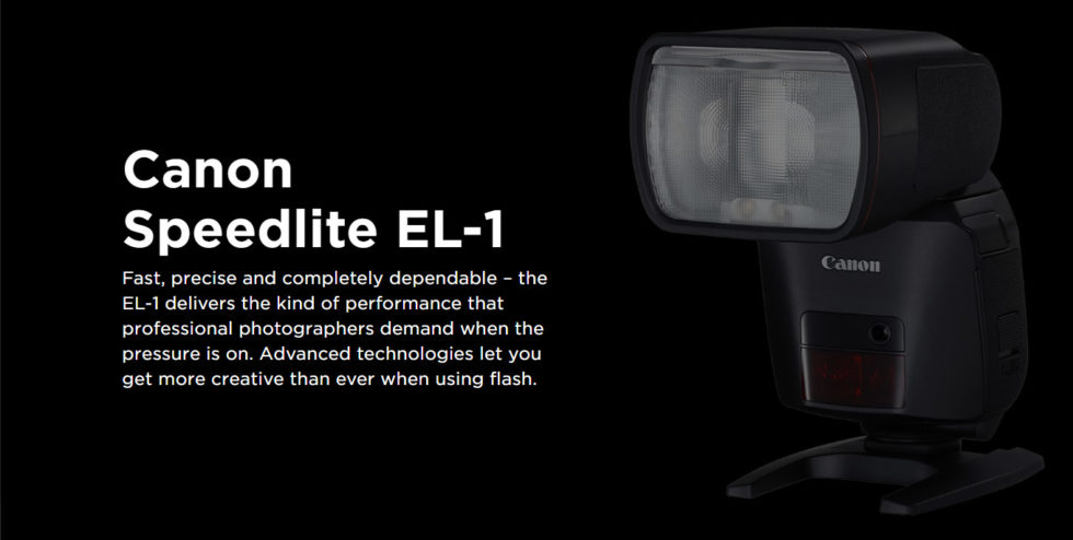 When you only get one chance, make it count with the new Speedlite EL-1 from Canon